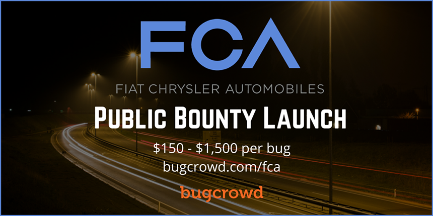 Fiat Chrysler Launches Bug Bounty Program to Advance Vehicle Cybersecurity